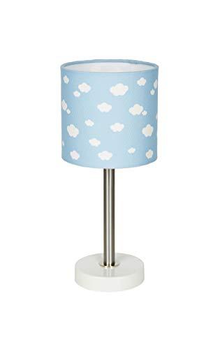 Lámpara de mesa, diseño de nube, color azul y blanco