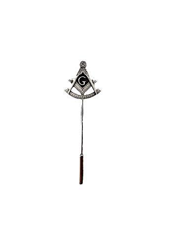 Giftsforall R253 Freimaurer G Krawattennadel aus englischem Zinn auf einer Krawattennadel für Hut, Schal, Halsband