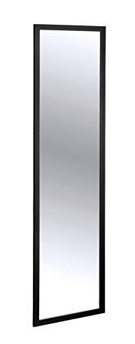 WENKO Türspiegel Arcadia Schwarz - Wandspiegel, Hängespiegel, Polystyrol, 30 x 120 cm, Schwarz