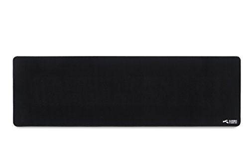 Glorious Extended Gaming Mouse Pad/Mat - Long Black Cloth Mousepad, Stitched Edges | 36x11' (G-E)