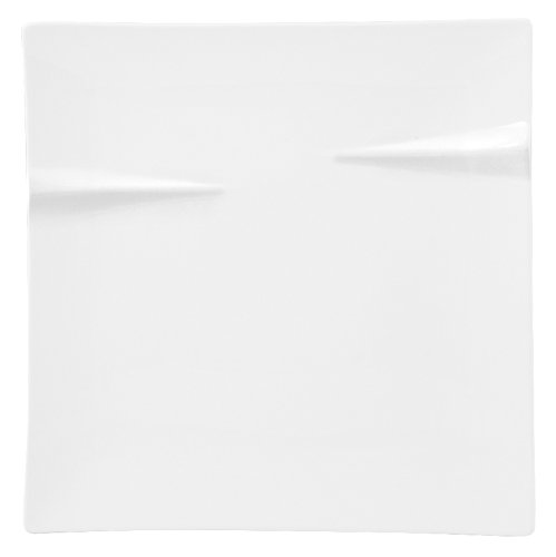 HOTELWARE voiles Assiette Cadre, 25 cm, Porcelaine, Blanc