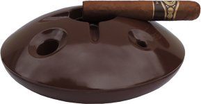 Large 8 Inch Commercial Quality Melamine Windproof Ashtray - Chocolate