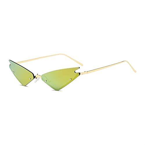 JWYing Classy Damas Fashion Gafas de Sol Gato Ojo Tumsless Women Gafas de Sol Sombras de diseño de Lujo (Lenses Color : C06)