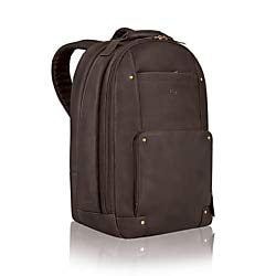 SOLO Vintage Collection Colombian Leather Laptop Backpack, Holds Notebook Computer up to 15.6 Inches, Espresso (VTA701-3)