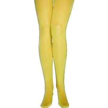 PARTY DISCOUNT Strumpfhose, gelb, Blickdicht, L-XL
