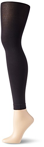 No Nonsense Women's Super Opaque Control Top Footless Tight, Black, XX-Large