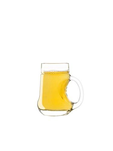 Stölzle Oberglas Mostkanne Birne 0,25ml I Gläser 6er Set bruchsicher I Bauchiges Henkelglas für Obstweine I Ideal für Birnen- & Apfelmost I Saftglas mit Henkel in Birnenform