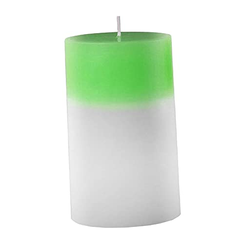 B Blesiya Candele Decorative a Colonna Reale Integrate in stoppino di Cotone Leggero a LED Senza Fumo per la casa Che Cambia Colore per Feste di Matrimonio - Verde