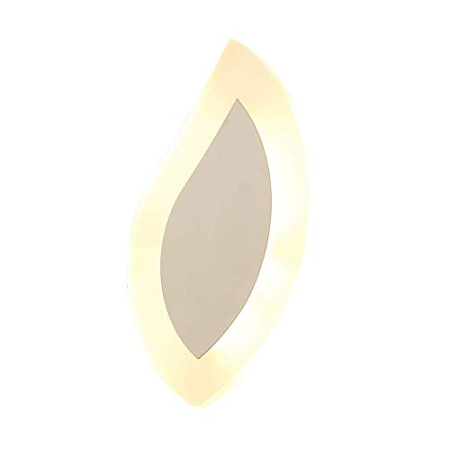 CHENJIA Lámpara de pared LED sencillo y moderno, creativo Sala de estar Dormitorio Pasillo Escalera Personalidad lámpara de pared, de alta transmitancia de luz Pantallas de iluminación, pintura de aer
