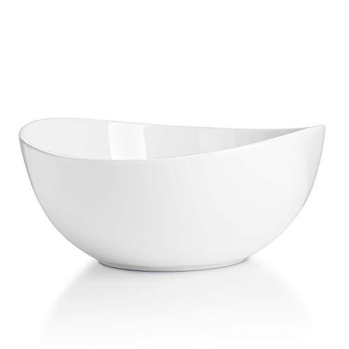 Sweese 104.001 Salatschüssel aus Porzellan, 1000 ml, Verwenden Sie als Salatschale, Müslischale, Suppenschale, Rührschale, Servierschale
