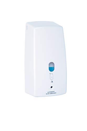 WENKO Infrarot Seifenspender Treviso Weiß - automatischer Flüssigseifen-Spender Fassungsvermögen: 0.65 l, Kunststoff, 11 x 22.5 x 10.5 cm, Weiß