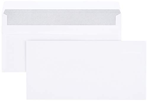 AmazonBasics - Briefumschlag, DL (110x220 mm), selbstklebend, Weiß, 75 g/m², 1.000 Stück