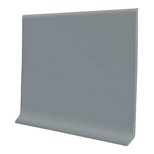 Proflex Gray Vinyl Wall Base 4 inch X 20 ft Non Glue Wall Base Trim Durable and Flexible - Easy Install Vinyl Floor Base That Resists Scuffing, Cracking and is Ideal to Use All Around Your Home