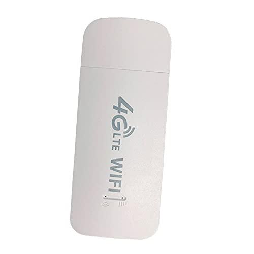 FLAMEER 4G LTE USB Wireless Modem Dongle Stick WiFi Router Adapter Hotspot 150Mbps con Tarjeta SIM, el Acceso inalámbrico está Disponible en Redes 3G, 4G