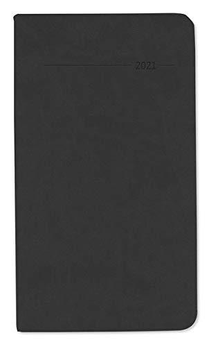 Taschenkalender Tucson schwarz 2021 - Büro-Kalender 9x15,6 cm - 1 Woche 2 Seiten - 128 Seiten - mit weichem Tucson-Einband - Alpha Edition
