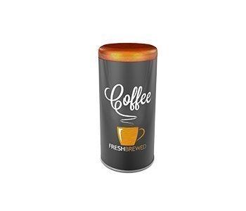 Kaffee pad büchse Pad Dose Box Kaffeepad-Dose ca. 17cm ver.Motive (orange Tasse)