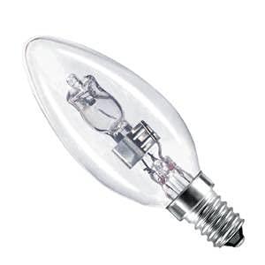 Los mit 4 42 W Eco Halogen E14 Kerzenlampen, Schraubboden, entspricht einer Glühlampe und einer 60 W Halogenlampe