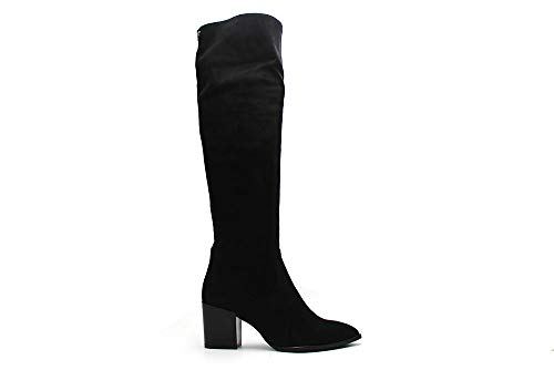 PEDRO MIRALLES Montgomery 28516 Ante Elastico Negro.Bota Alta para Mujer de Tejido Elastico. (Negro, Numeric_38)