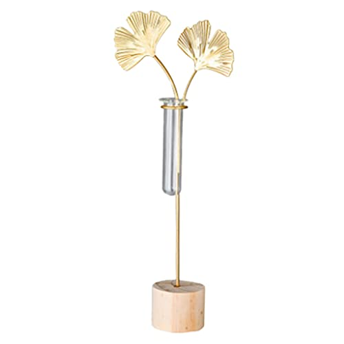 Baoblaze Florero hidropónico para Flor, florero de Tubo de ensayo de Escritorio, Soporte de Planta de Metal, florero para Plantas, decoración de jardín de