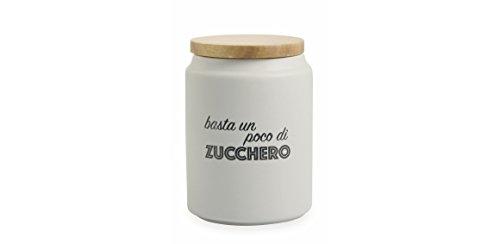"""Villa d""""Este Home Tivoli Idee Barattolo Zucchero, gres, Grigio, 11 x 15"""