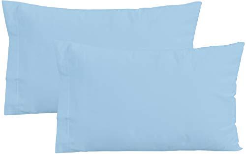 Iride by Perlarara Lot 2taies d'oreiller pour oreiller de berceau d'enfant, 100% pur coton, 40x 60cm, lavable bleu ciel