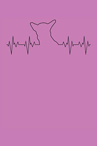 Electrocardiograma de latido de Chinchilla: Cuaderno Chihuahua Heartbeat - 120 páginas rayadas para anotar pensamientos, ideas e impresiones   DINA5   ... para los amantes de los perros y las mascotas