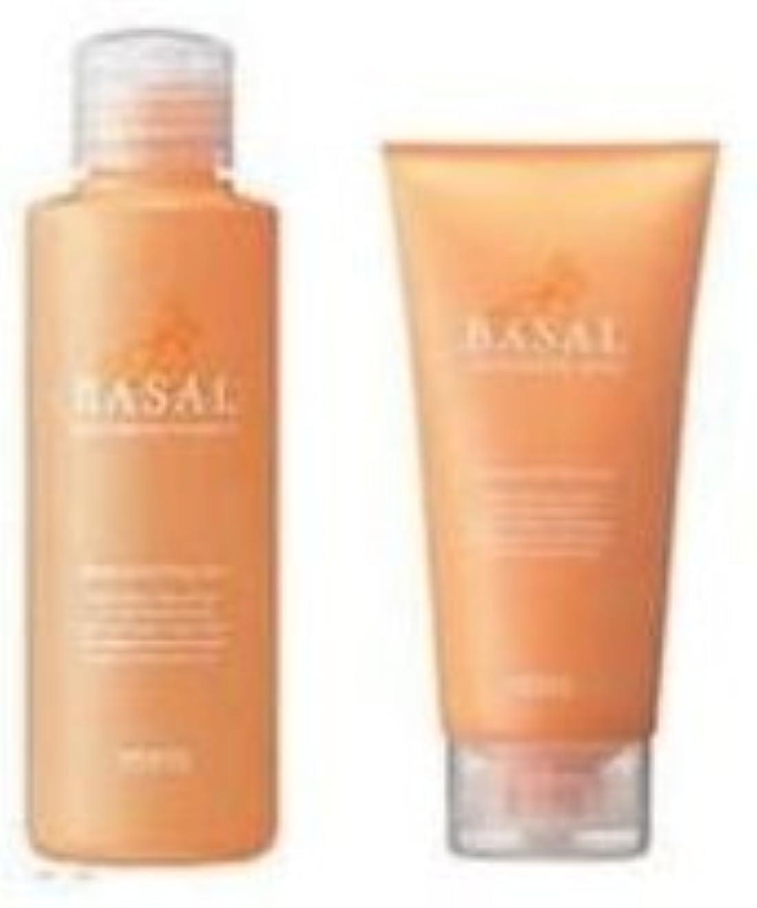 対達成可能非アクティブメロス BASAL メロス BASAL ナリシングシャンプー150ml + ナリシングパック140gセット