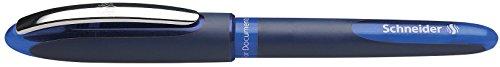 Schneider One Business Tintenroller (Dokumentenecht mit 0,6 mm Strichstärke und Ultra-Smooth-Spitze, Made in Germany) 1er Blisterkarte, blau