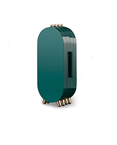 Joyería caja de almacenamiento vertical joyería caja de almacenamiento collar pendiente pulsera plegable de gran capacidad joyería finisher Plastic vintage Green Jewelry Frame Mirror bead Box finisher