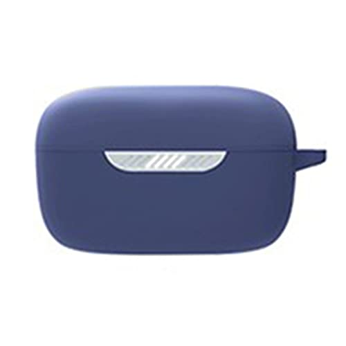 Coque Étui Protecteur Compatible pour J-BL Live Free NC Case, Housse De Protection en Silicone Anti-Choc avec Mousqueton Compatible pour J-BL Live Free NC