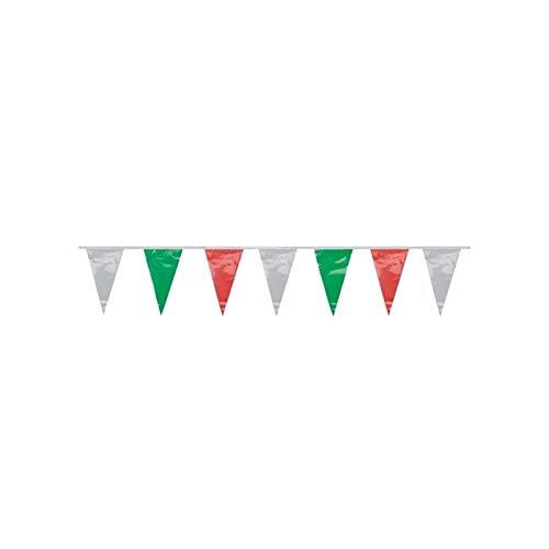 PARTY DISCOUNT Wimpelkette Italien-Fahne dreieckig, 4 m