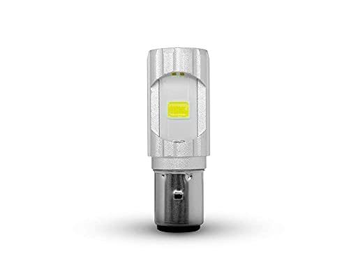 Moto LED Ampoule Phare - 12V/36W/S2 BA20 - Haut & Faisceau Croisement