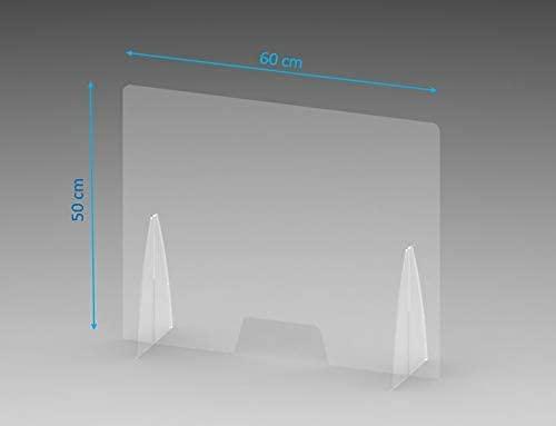 Creda Parafiato parasputi da banco in plexiglass con Apertura, 60x50 Centimetri