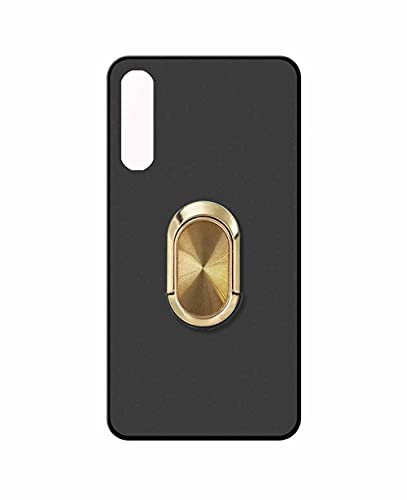 Sunrive Funda Compatible con Sony Xperia 10 III, Silicona Mate Gel Carcasa Case Bumper Anti-Arañazos Espalda Cover Anillo Kickstand 360 Grados Giratorio(A4 Dorado) + 1 x Lápiz óptico