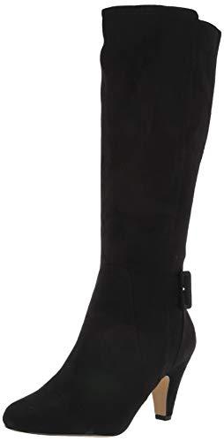 Bella Vita Women's Troy II Dress Boot Knee High, Black Suede, 9.5 2W US