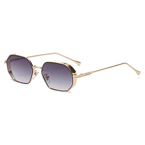 LUOXUEFEI Gafas De Sol Gafas De Sol Mujer Hombre Octágono Gafas De Sol Cuadradas Gris Marrón Azul