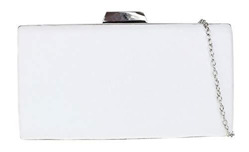 Girly Handbags Caja leopardo del bolso de embrague duro (Blanco)
