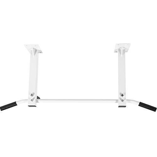 GORILLA SPORTS® Klimmzugstange zur Deckenmontage Weiss - Reckstange max. Belastbarkeit bis 350 kg