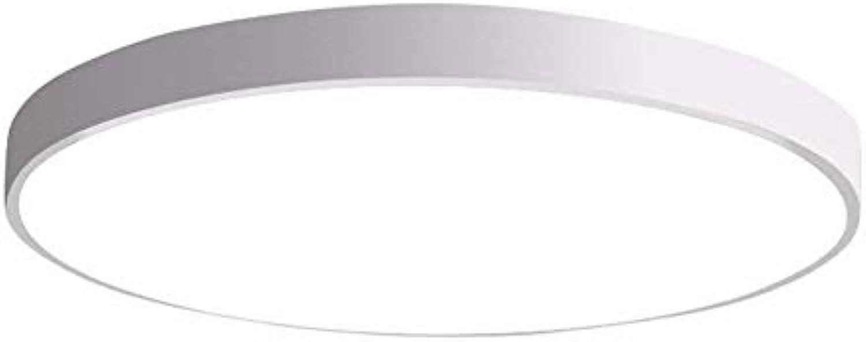 LED Deckenlampe Ultradünne 5cm Wohnzimmer Deckenlampe Küche Deckenlampe Modern Minimalist Home Lighting (Energieklasse A ++) (Farbe   Weies weies Licht-40cm)