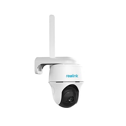Reolink Go PT 1080P Caméra Surveillance sur Batterie Extérieure avec 3G/4G LTE,355° Pan/140°Tilt, Caméra Solaire IP sans Fil avec Carte Micro SD 32Go, Audio Bidirectionnel, Vision Nocturne Starlight