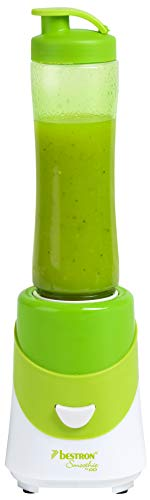 Bestron Smoothie Maker mit Mix-/Trinkbecher, 600 ml, 300 Watt, Grün