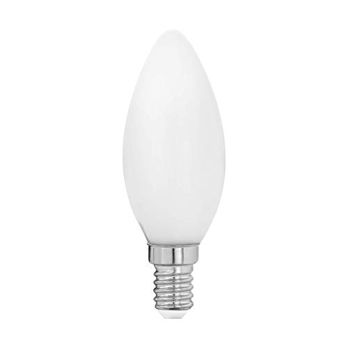 Preisvergleich Produktbild EGLO LED E14 Lampe,  Glühbirne Kerze Milky,  LED Lampe,  4 Watt (entspricht 40 Watt),  470 Lumen,  E14 LED warmweiß,  2700 Kelvin,  LED Leuchtmittel,  Glühlampe C35,  Ø 3, 5 cm