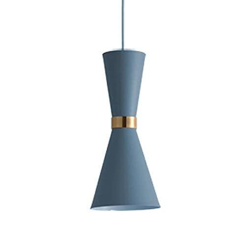 Color Colgante Lámpara Creativa Metal Lámpara Diseño Luces Colgantes E27 Colgante Luz de Luz Altura Ajustable Suspensión Luces de alambre para Restaurante Dormitorio Sala de estar ( Color : Azul )