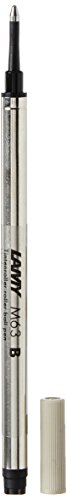 LAMY M 63 Mine 823 – Tintenroller-Mine aus Metall in der Farbe Schwarz für LAMY Tintenroller mit Kappe – Strichbreite B