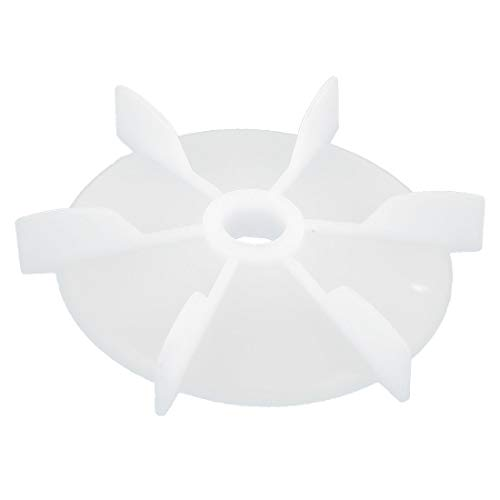New Lon0167 14mm D Destacados Shape Inner Hole eficacia confiable Dia White Plastic 6 Impeller Cooling Fan Ventilador Rueda(id:0c1 9c c7 df5)