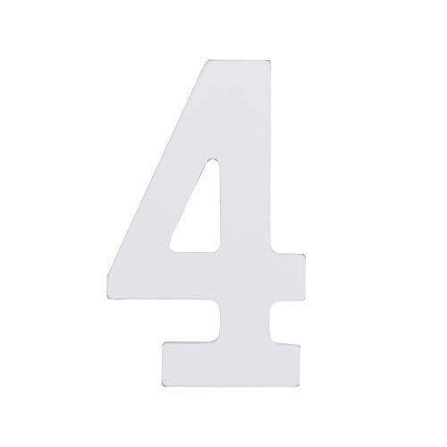8 cm DIY Hochzeitstisch Weiß Zahlen...