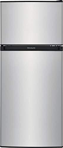 FFPS4533UM 19' Compact Refrigerator with 4.5 cu. ft. Total Capacity Adjustable Glass Shelves Reversible Door and Full Width Freezer in Silver Mist
