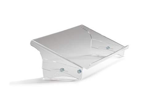 Bakker Elkhuizen Q-Doc 515 document holder - Dokumenten halter - Vorlagen halter - Konzept halter - Höhenverstellbar - 7 Stufen - ergonomisch - transparent - Acrylglas