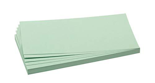 Franken GmbH UMZ 1020 19 Moderationskarten Rechtecke, 9,5 x 20,5 cm, 500 Stück, hellgrün