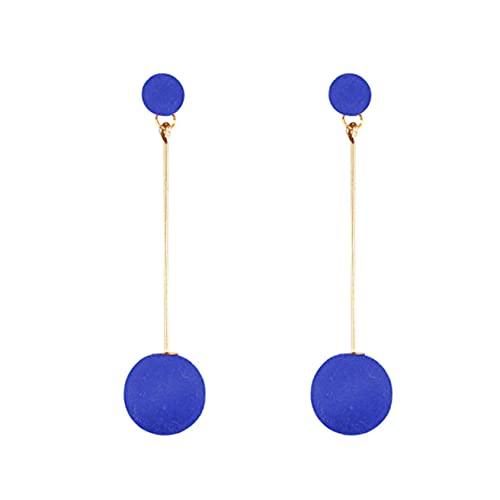 SMEJS Pendientes largos de temperamento, joyería para mujeres, niñas, pendientes con dijes, pendientes para mujer, regalos para mujeres, regalo de cumpleaños, azul